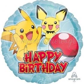 """Μπαλονι Foil 18""""(45Cm) Pokemon Happy Birthday - ΚΩΔ:536333-Bb"""