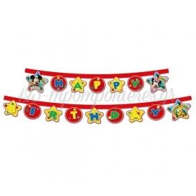 """Γιρλαντα """"Happy Birthday"""" Mickey Mouse 220Cm - ΚΩΔ:81514-Bb"""