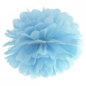 ΧΑΡΤΙΝΟ POM POM BABY BLUE 25cm - ΚΩΔ:PP25-093J-BB