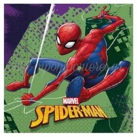 Χαρτοπετσετες Spiderman - Team Up 33X33Cm - ΚΩΔ:89448-Bb