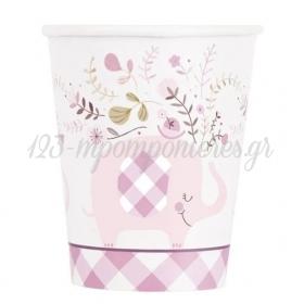 Χαρτινο Ποτηρι Ροζ Ελεφαντακι 200Ml - ΚΩΔ:78376-Bb