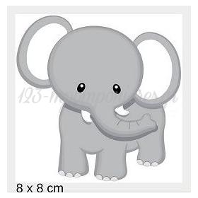 Ξυλινο Ελεφαντακι Με Laser Cut Κοπη Περιμετρικα 8Χ8Cm - ΚΩΔ:Mpoae15-4-8-Al