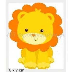 Ξυλινο Λιονταρακι Με Laser Cut Κοπη Περιμετρικα 8Χ7Cm - ΚΩΔ:Mpoae15-7-8-Al