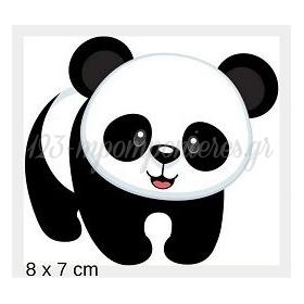 Ξυλινο Panda Με Laser Cut Κοπη Περιμετρικα 8Χ7Cm - ΚΩΔ:Mpoae17-8-Al