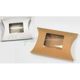 Χαρτινο Κουτι Μαξιλαρι Με Παραθυρο Ζελατινα Μικρο 9Cm - ΚΩΔ:506217