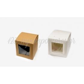 Κουτι Κυβος Χαρτινο Με Παραθυρο Ζελατινα Μικρο 6Cm - ΚΩΔ:506221