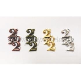 ΜΕΤΑΛΛΙΚΟ 3D 2022 2.4cm x 4.2cm - ΚΩΔ:517937