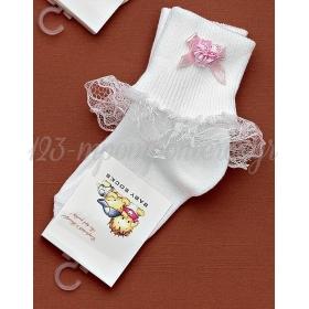 Καλτσακια Βρεφικα Λουλουδι Εως 18 Μηνων - Ζευγαρι - ΚΩΔ:151-Ad