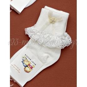 Καλτσακια Βρεφικα Λουλουδι Εως 18 Μηνων - Ζευγαρι - ΚΩΔ:184-Ad
