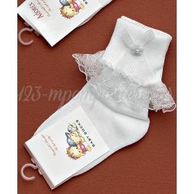 Καλτσακια Βρεφικα Λουλουδι Εως 18 Μηνων - Ζευγαρι - ΚΩΔ:185-Ad