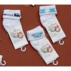 Καλτσακια Βρεφικα Εως 6 Μηνων Σετ 3 Σχεδια - Ζευγαρι - ΚΩΔ:201-Ad