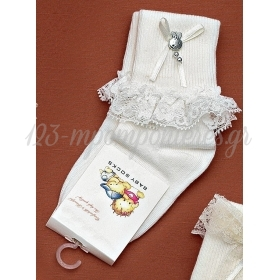 Καλτσακια Βρεφικα Ροδι Εως 18 Μηνων - Ζευγαρι - ΚΩΔ:217-Ad