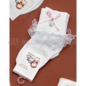 Καλτσακια Βρεφικα Κορωνα Εως 18 Μηνων - Ζευγαρι - ΚΩΔ:233-Ad