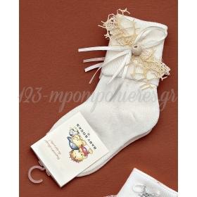 Καλτσακια Βρεφικα Χαντρα Εως 18 Μηνων - Ζευγαρι - ΚΩΔ:256-Ad
