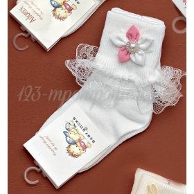 Καλτσακια Βρεφικα Λουλουδι Εως 18 Μηνων - Ζευγαρι - ΚΩΔ:258-Ad