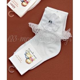 Καλτσακια Βρεφικα Λουλουδι Εως 18 Μηνων - Ζευγαρι - ΚΩΔ:273-Ad