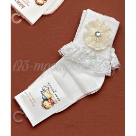 Καλτσακια Βρεφικα Λουλουδι Εως 18 Μηνων - Ζευγαρι - ΚΩΔ:275-Ad