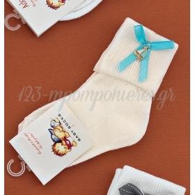 Καλτσακια Βρεφικα Καραβακι Εως 18 Μηνων - Ζευγαρι - ΚΩΔ:302-Ad