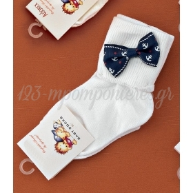 Καλτσακια Βρεφικα Φιογκακι Εως 18 Μηνων - Ζευγαρι - ΚΩΔ:303-Ad
