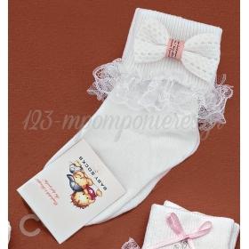 Καλτσακια Βρεφικα Φιογκακι Εως 18 Μηνων - Ζευγαρι - ΚΩΔ:314-Ad