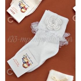 Καλτσακια Βρεφικα Λουλουδι Εως 18 Μηνων - Ζευγαρι - ΚΩΔ:315-Ad