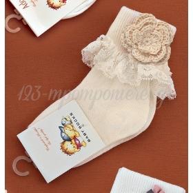 Καλτσακια Βρεφικα Λουλουδι Εως 18 Μηνων - Ζευγαρι - ΚΩΔ:332-Ad
