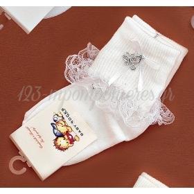 Καλτσακια Βρεφικα Πεταλουδα Εως 18 Μηνων - Ζευγαρι - ΚΩΔ:355-Ad