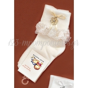 Καλτσακια Βρεφικα Λουλουδι Εως 18 Μηνων - Ζευγαρι - ΚΩΔ:357-Ad