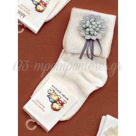 Καλτσακια Βρεφικα Λουλουδι Εως 18 Μηνων - Ζευγαρι - ΚΩΔ:359-Ad