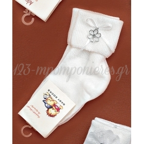 Καλτσακια Βρεφικα Λουλουδι Εως 18 Μηνων - Ζευγαρι - ΚΩΔ:374-Ad