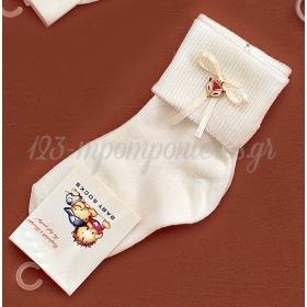Καλτσακια Βρεφικα Κουκουβαγια Εως 18 Μηνων - Ζευγαρι - ΚΩΔ:375-Ad