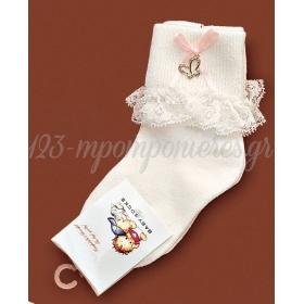 Καλτσακια Βρεφικα Πεταλουδα Εως 18 Μηνων - Ζευγαρι - ΚΩΔ:382-Ad