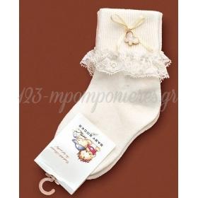 Καλτσακια Βρεφικα Πεταλουδα Εως 18 Μηνων - Ζευγαρι - ΚΩΔ:383-Ad