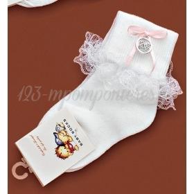 Καλτσακια Βρεφικα Κυκνος Εως 18 Μηνων - Ζευγαρι - ΚΩΔ:386-Ad