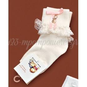 Καλτσακια Βρεφικα Καρδια Εως 18 Μηνων - Ζευγαρι - ΚΩΔ:390-Ad