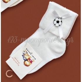 Καλτσακια Βρεφικα Μπαλα Εως 18 Μηνων - Ζευγαρι - ΚΩΔ:399-Ad