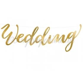 ΧΑΡΤΙΝΗ ΧΡΥΣΗ ΕΠΙΓΡΑΦΗ ''WEDDING'' 16.5Χ45CM - ΚΩΔ:492858-NT