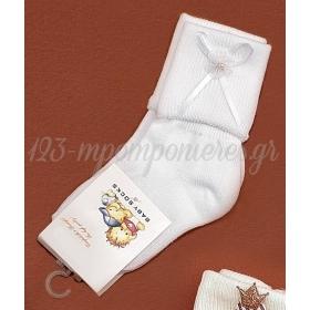 Καλτσακια Βρεφικα Λουλουδι Εως 18 Μηνων - Ζευγαρι - ΚΩΔ:75-Ad