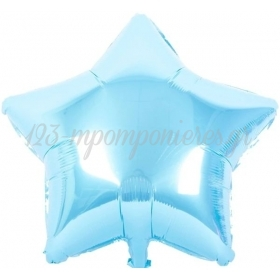 """ΜΠΑΛΟΝΙ FOIL 18""""(45cm) BABY BLUE ΑΣΤΕΡΙ - ΚΩΔ:206423-BB"""