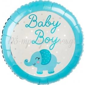 """ΜΠΑΛΟΝΙ FOIL 18""""(46cm) ΕΛΕΦΑΝΤΑΚΙ BABY BOY - ΚΩΔ:543125-BB"""