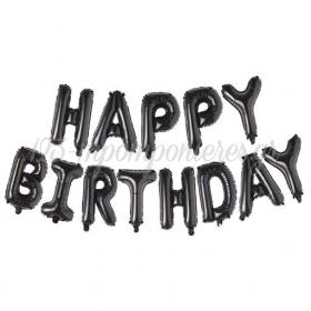 ΜΠΑΛΟΝΙΑ FOIL ΜΑΥΡΟ HAPPY BIRTHDAY - ΚΩΔ:206432-BB