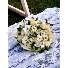 Νυφικη Ανθοδεσμη Με Φρεζιες Λυσιανθους Και Τριανταφυλλα - ΚΩΔ.:Ts-2808-N