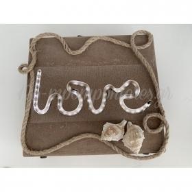 Κουτι Ευχων Με Led Love Φωτιζομενο - Κοχυλια Και Σχοινι - ΚΩΔ:Rn0000Ls8-Rn