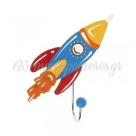 Ξυλινη Κρεμαστρα Τοιχου Πυραυλος 12Cm - ΚΩΔ:152043-Pr