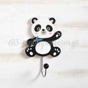 Ξυλινη Κρεμαστρα Τοιχου Panda 14Cm - ΚΩΔ:152067-Pr