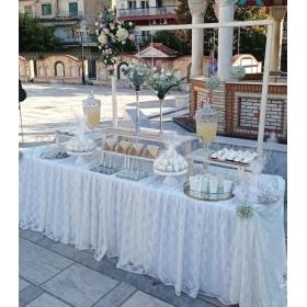 Στολισμός γάμου σε λευκό και χρυσό - Άγιος Θεράποντας - Τούμπα - ΚΩΔ:GOLD-0409