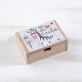 Ξύλινο Κουτάκι Ζέβρα 10.5x7x4cm - ΚΩΔ:LN953-PR