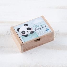 Ξύλινο Κουτάκι Panda 10.5x7x4cm - ΚΩΔ:LN955-PR
