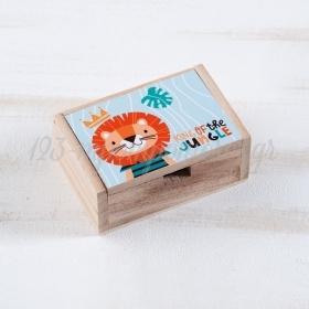 Ξύλινο Κουτάκι Λιοντάρι 10.5x7x4cm - ΚΩΔ:LN958-PR