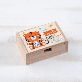 Ξύλινο Κουτάκι Τίγρης 10.5x7x4cm - ΚΩΔ:LN965-PR